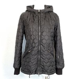 Authier Quilted Hooded Puffer Ski Jacket Black 8